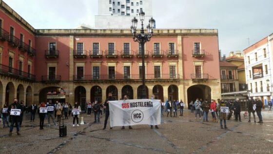Concentración de Hosteleros en Xixón